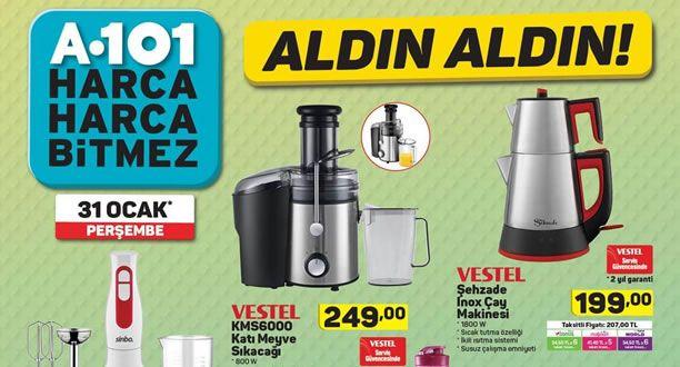 A101 31 Ocak 2019 Aktüel Ürünler Kataloğu